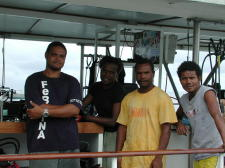Dive Crew: Terrence, Josie, Digger, Nelson - GAL Photo