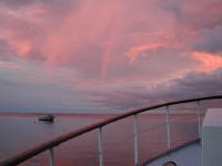 Sunset with Rainbow over Walindi Bay - MZ Photo